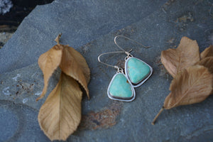 Essential Earrings- Green Kingman Turquoise