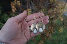 Load image into Gallery viewer, First Light Brass Earrings- White Buffalo