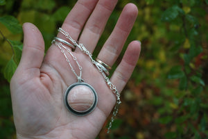 October Necklace- Round Pendant