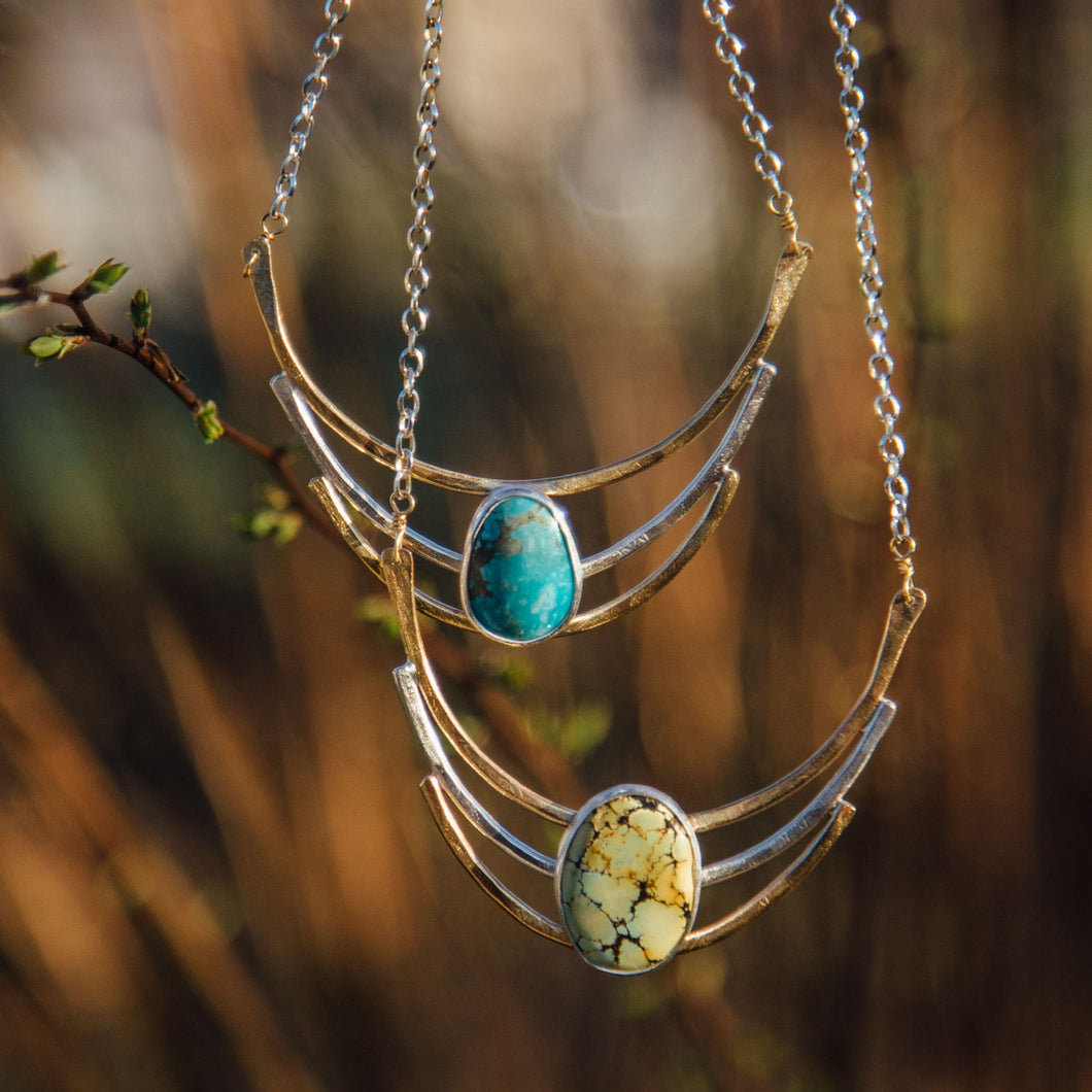 Cascade Necklace- Green Turquoise