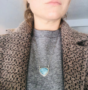 Stevie Necklace- Larimar