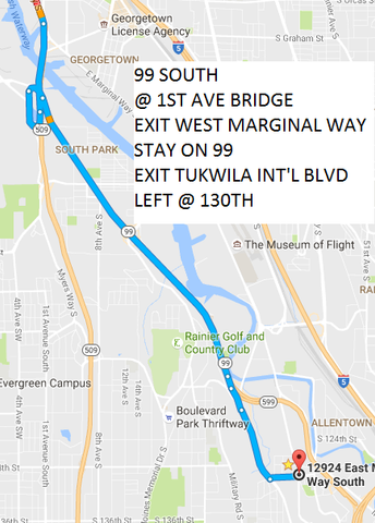GOOGLE MAP DIRECTIONS TO BELLA MATERNA VIA 99 SOUTH