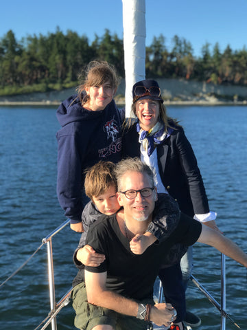 co-founder anne dimond and family
