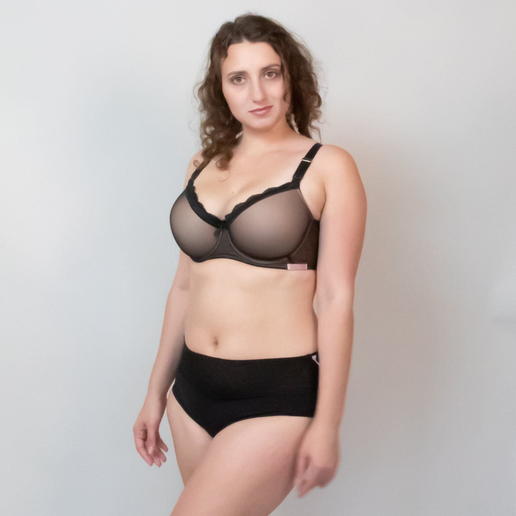 Sexy T-Shirt Nursing Bra - Black