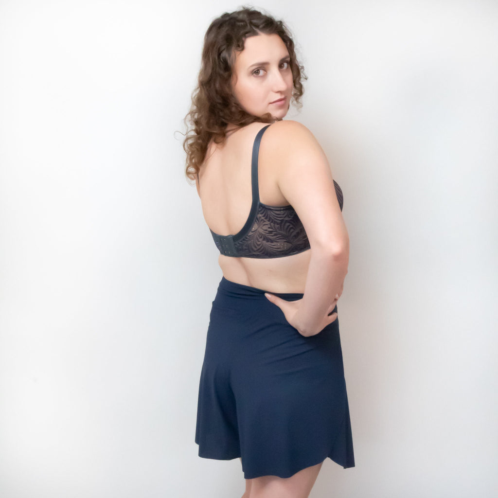 Vine T-Shirt Nursing Bra - Navy