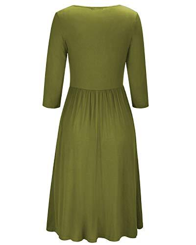 Green Empire Waist Ruffled Nursing Dress