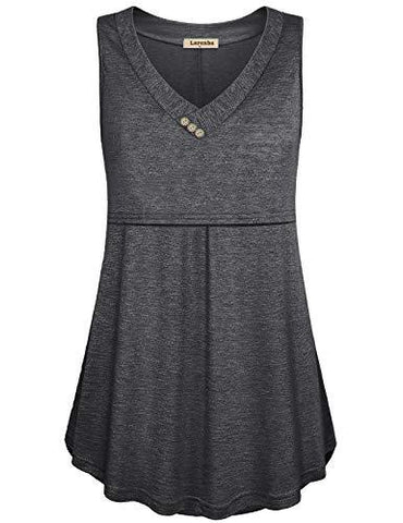 Image of Grey Loose Fit Nursing Tank Top
