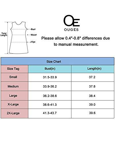 Sizing chart for Empire Waist Ruffled Nursing Dress