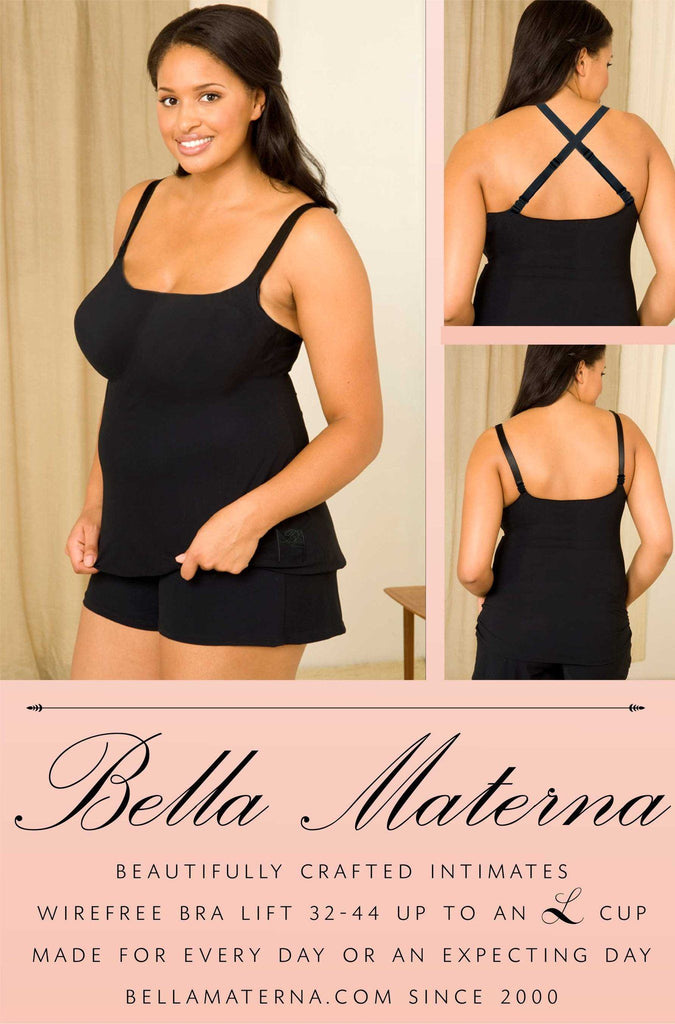 Embrace Everyday Camisole  - Full Bust Bra built in - Bella Materna Lingerie, Bella Materna, Bella Materna usa lingerie, nursing bra, maternity bra, bras