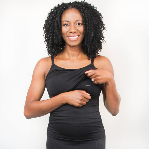 Embrace Pumping Bra Cami | Maternity -Black
