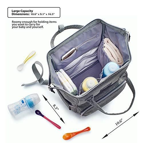 Inside of Multi-function Waterproof Diaper Bag Backpack