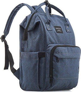 Dark Blue Multi-function Waterproof Diaper Bag Backpack