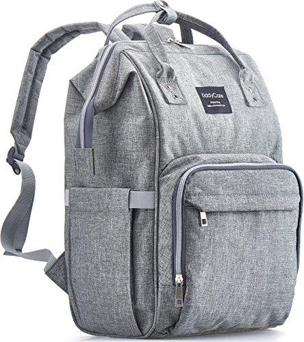 Grey Multi-function Waterproof Diaper Bag Backpack