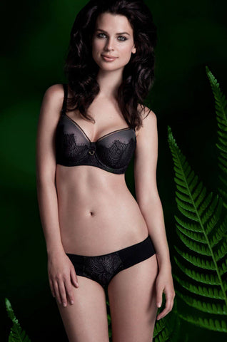 Peacock Lace Pushup Nursing Bra full body shot