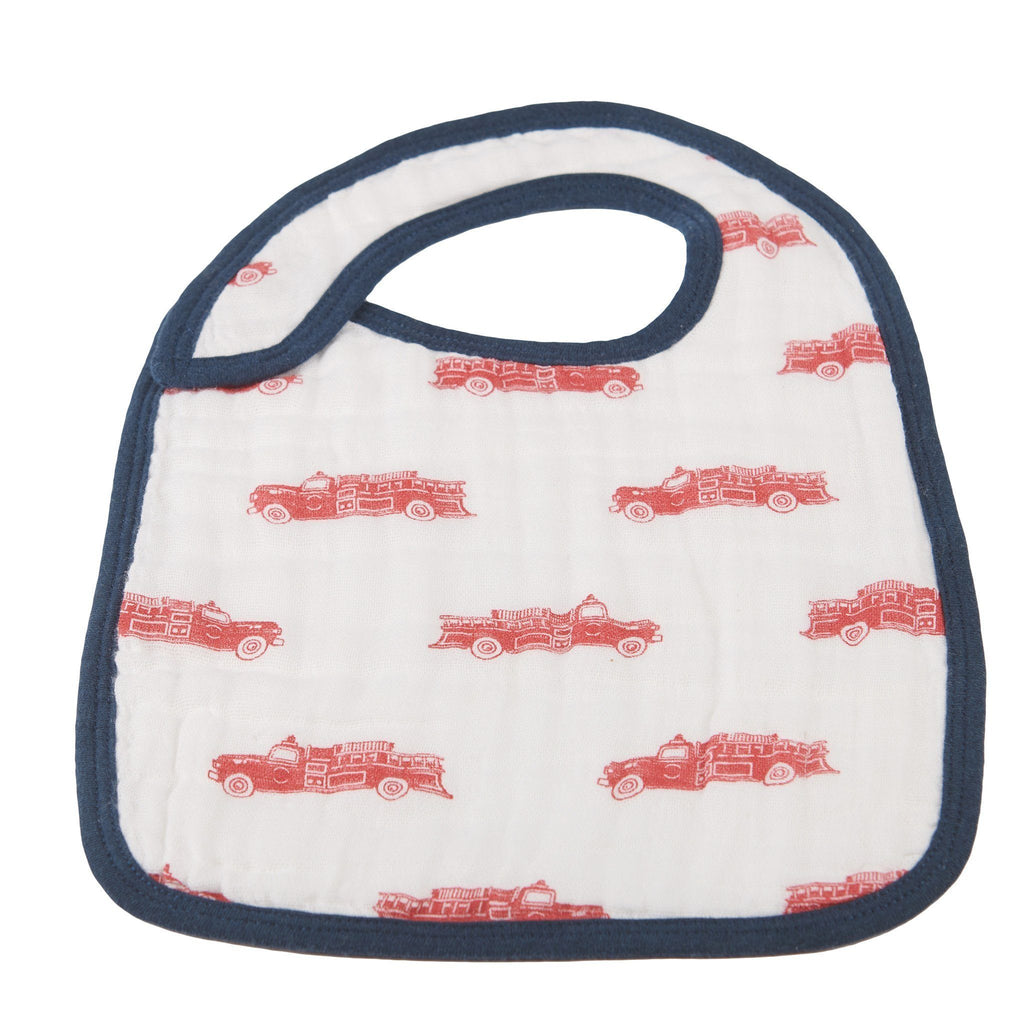 Fire Truck and Dalmatian Snap Bibs Set of 3 -