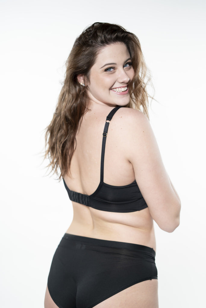 Anytime Wirefree Bra -Black