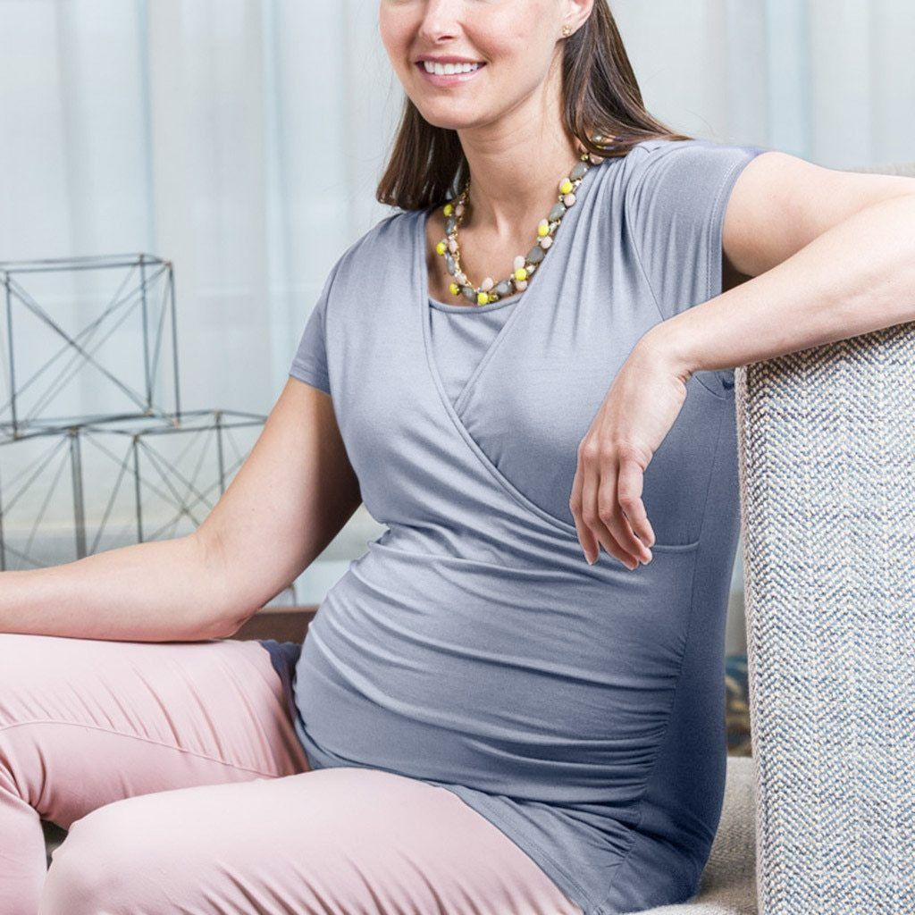Classic Maternity and Breastfeeding Wrap Top