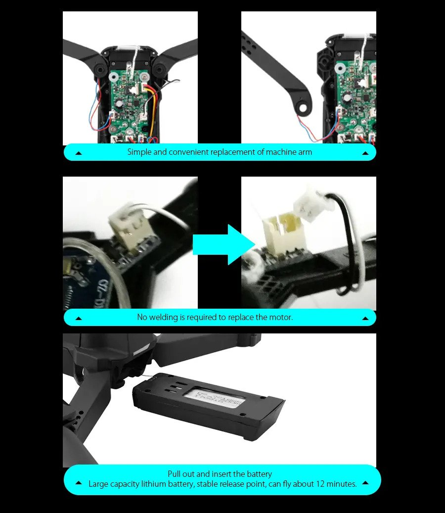 Simple and convenient replacement of machine arm
