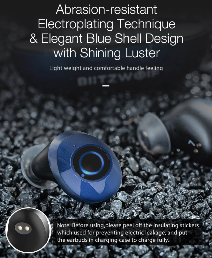Blitzwolf® Bluetooth Earphone Mini Wireless Earbuds With Portable Charging Box