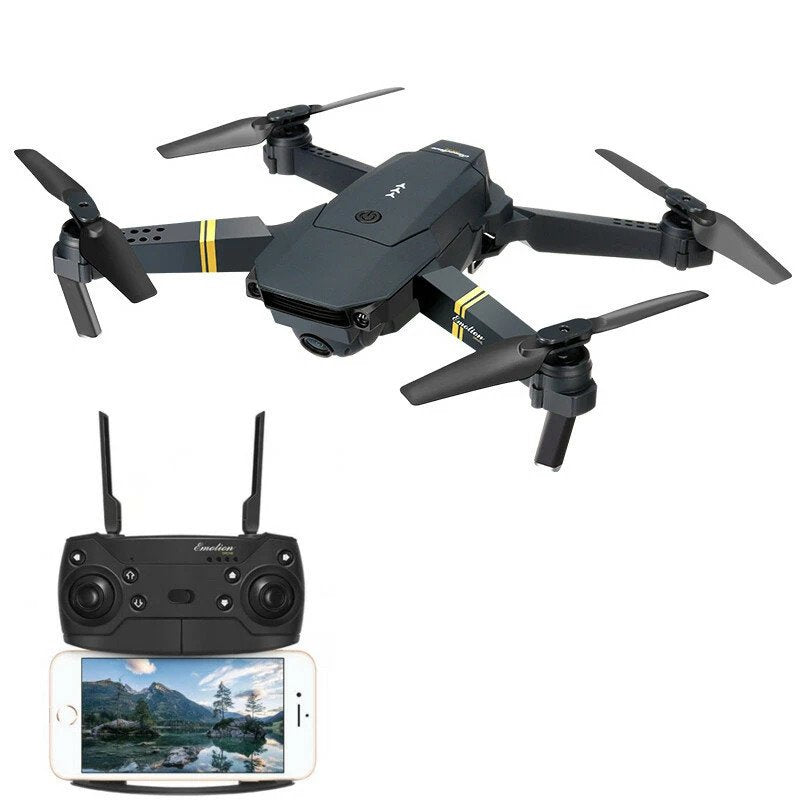 Eachine® Quadcopter Foldable Pocket Drone HD 720p Wide Angle Camera One Battery