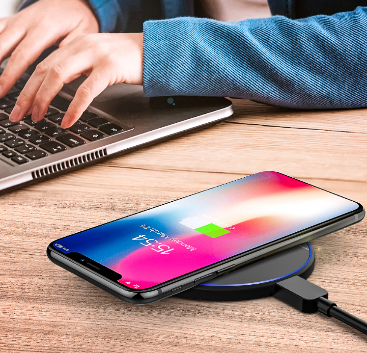 Blitzwolf® Fast Wireless Charger iPhone 11 Pro XS MAX XR S9 Note 9