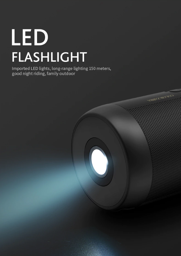 BoomMax™ Portable Wireless Bluetooth LoudSpeaker Waterproof FM Radio LED Flashlight