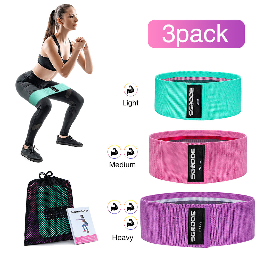 HomeFitX™ Resistance Bands Exercise Yoga Band Latex Fitness 3PCS