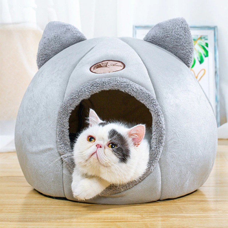 PetLove™ Pet Dog Cat Tent House Kennel Fluffy Foldable Sleeping Pad