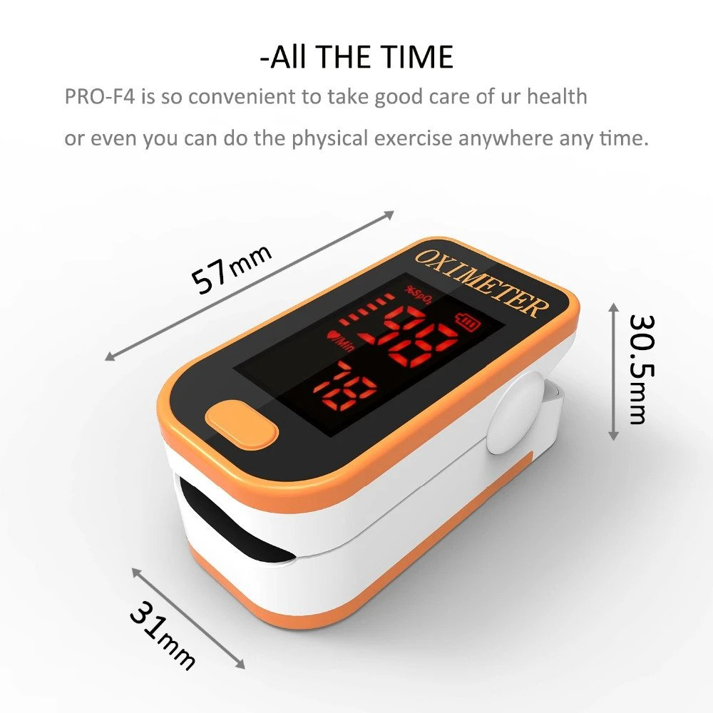 PRCMISEMED® Household LED Finger Pulse Oximeter Heart Beat At 1 Min