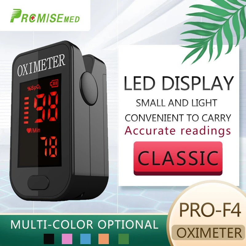 LED Display, Classic, Multicolor PRCMISEMED® Household LED Finger Pulse Oximeter Heart Beat At 1 Min