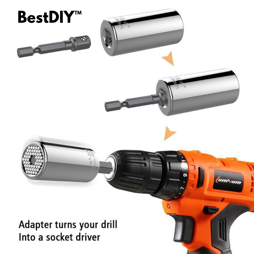 BestDIY™ Multifunctional Universal Hand Tools Socket Wrench Home DIY 7-19mm