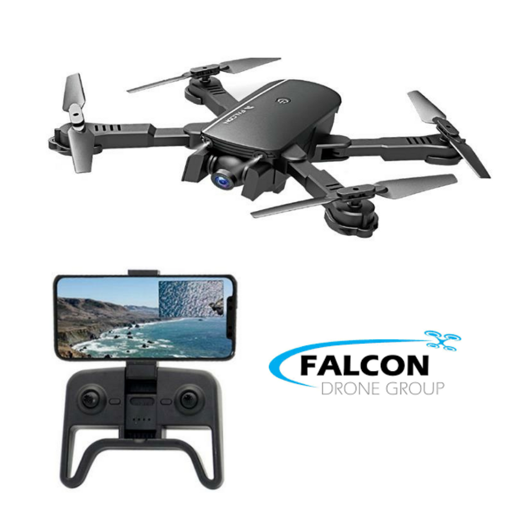 FALCONE™ Quadcopter Foldable Drone 1080p Wide Angle Camera Two Batteries