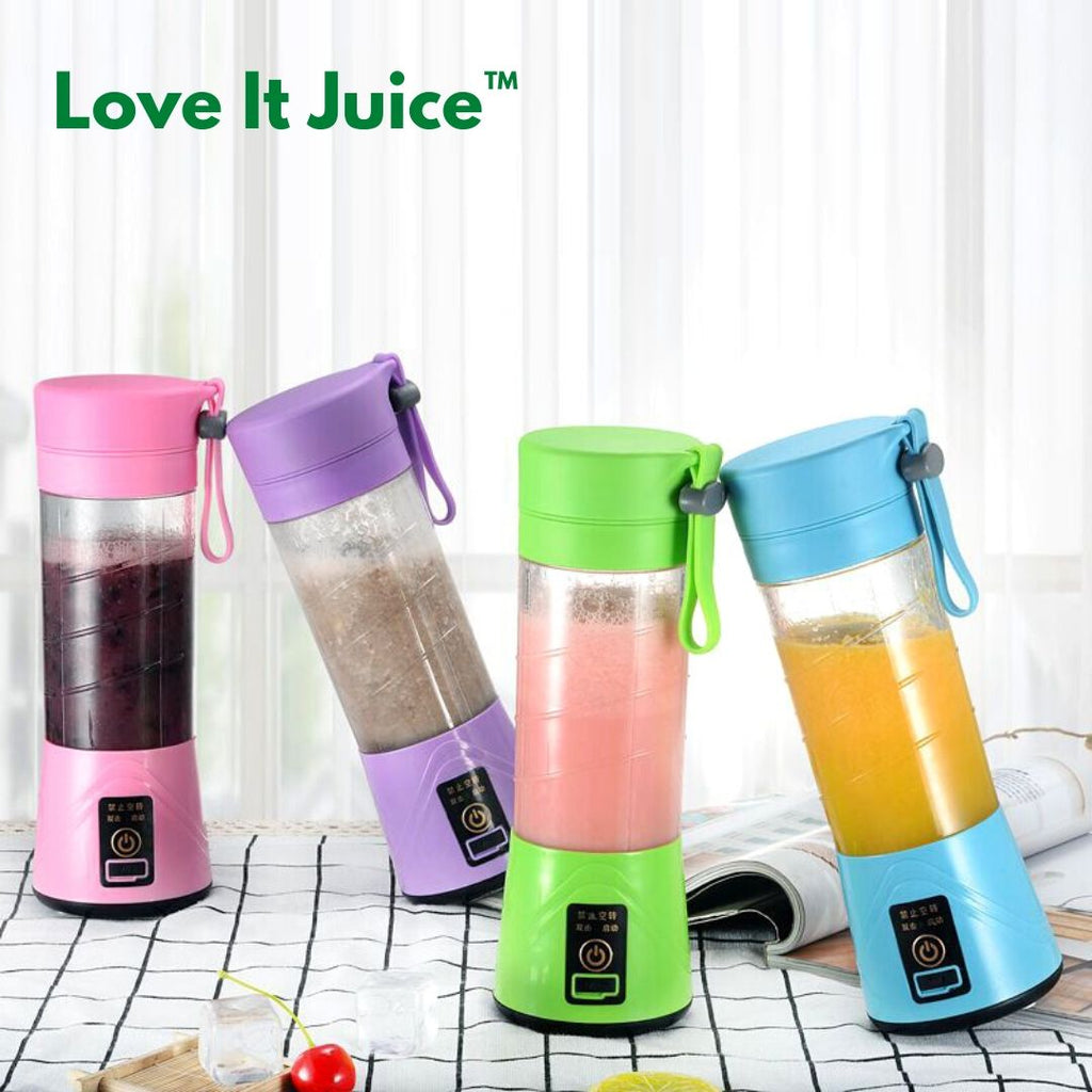 LoveItJuice™ Handheld Portable Electric Juicer Shaker Mixer Cup 400ml USB