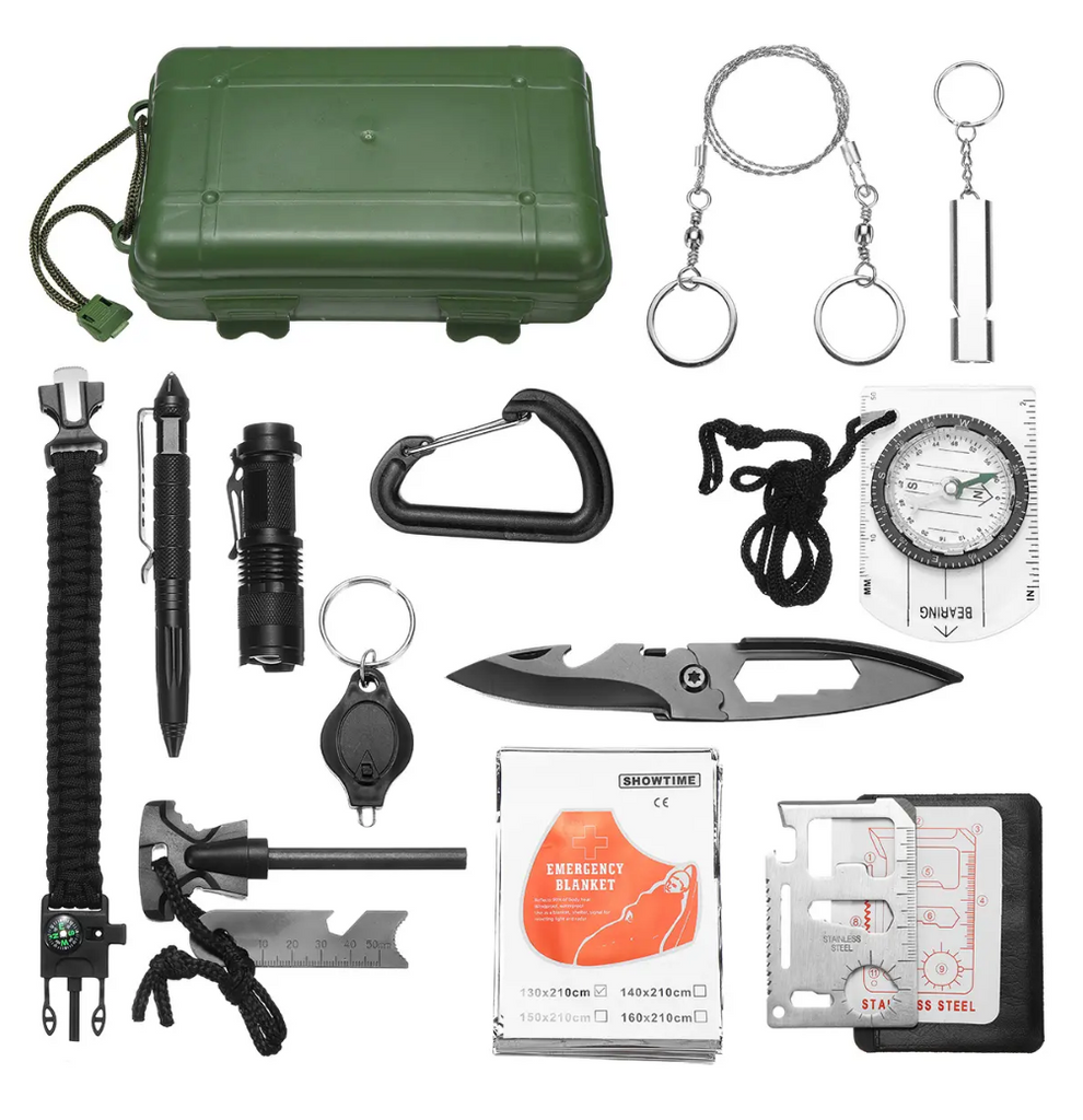SOS-Stuff™ Emergency Equipment Tools Kit Survival First Aid Box