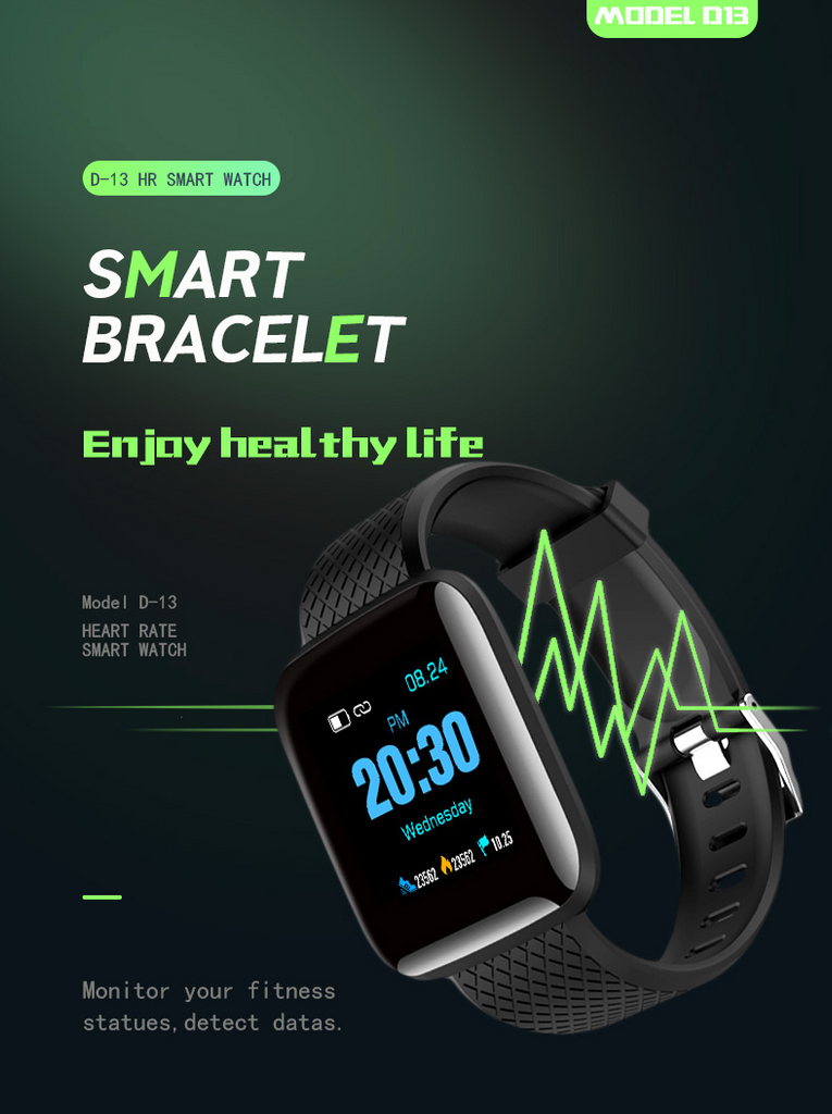 WatchFIT™ 1.3 Inch Color Screen Touch Blood Pressure Smart Watch