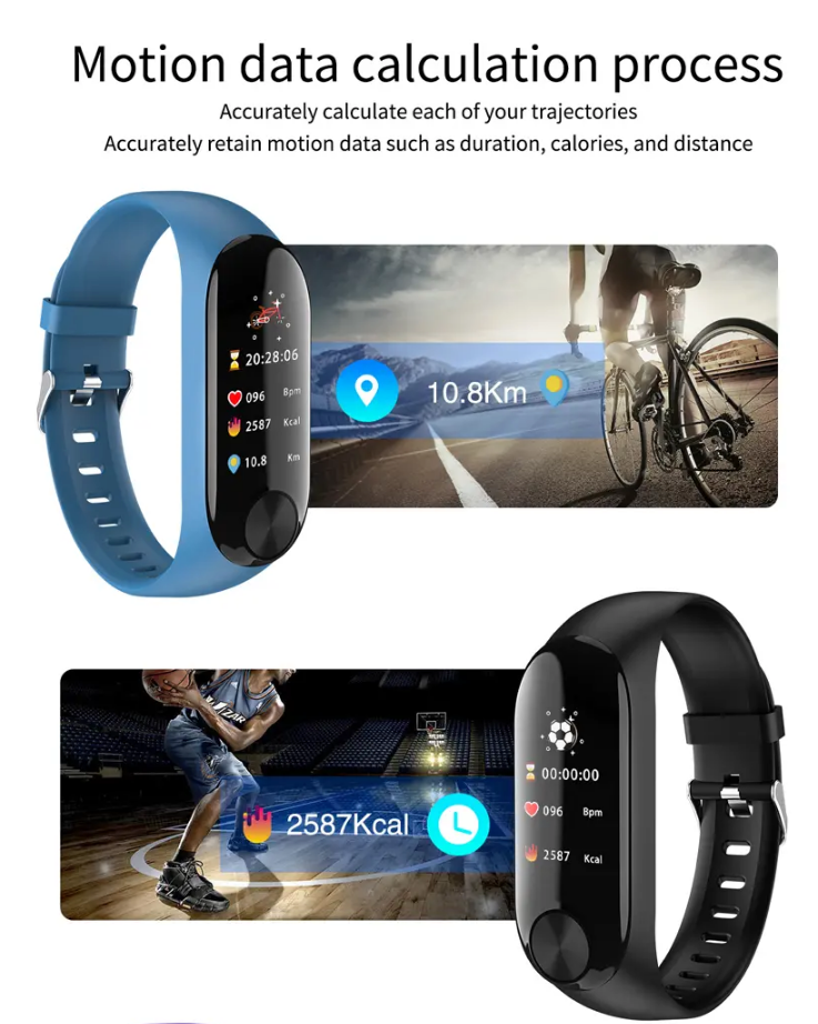 XANES® Fitness Tracker Home Exercise Smart Watch Heart Rate Monitor