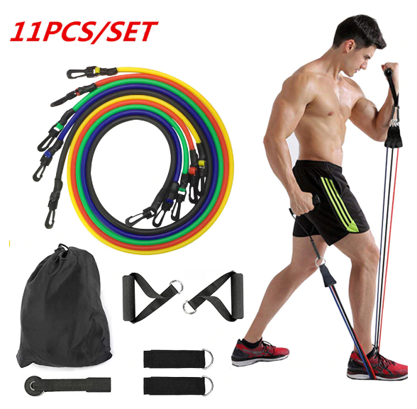 HomeFitX™ Resistance Band Set 11pcs Full Body Training Yoga Workout