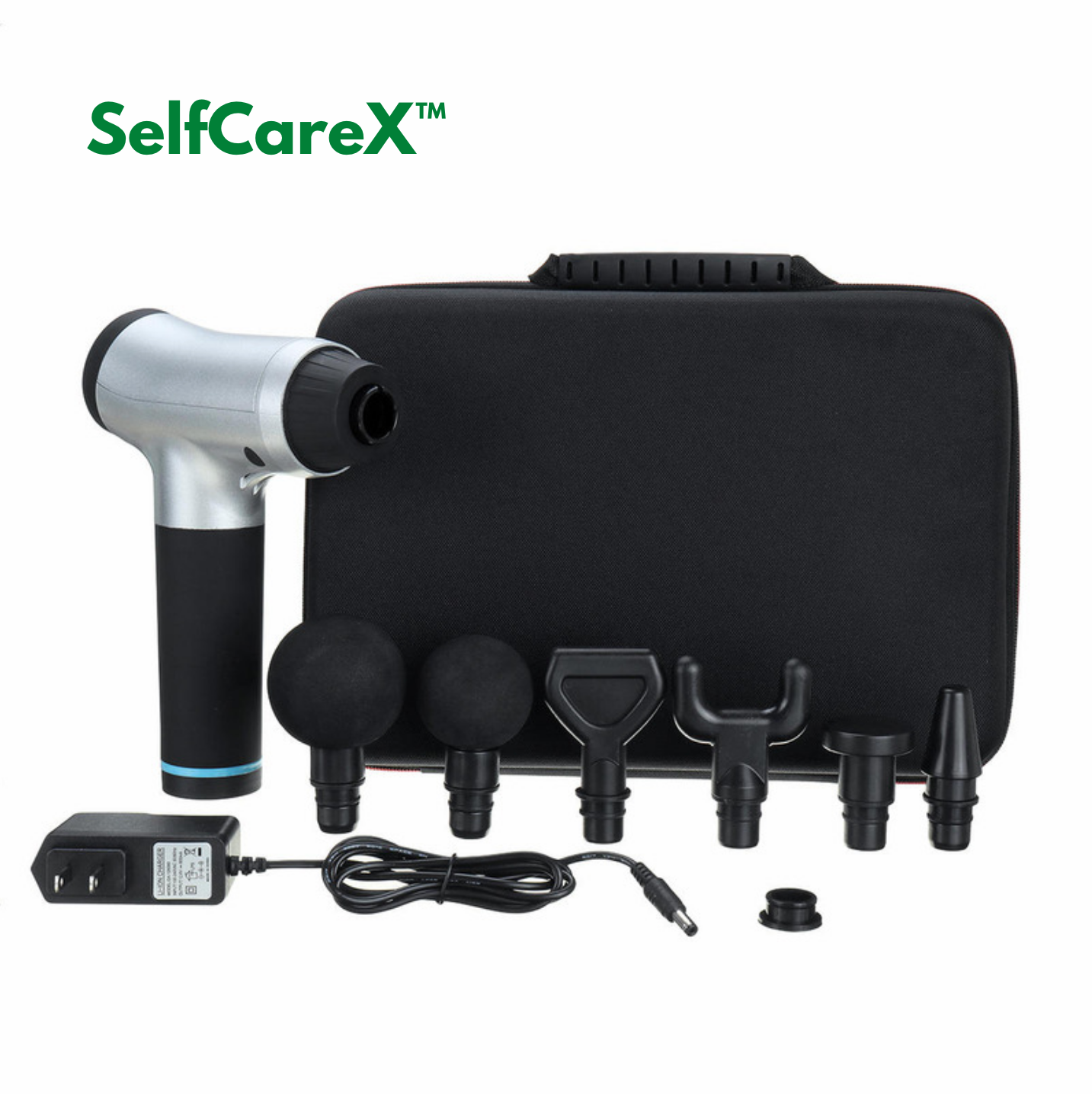 SelfCareX™ Massage Machine Gun Deep Tissue 6 x Heads 6 Speed