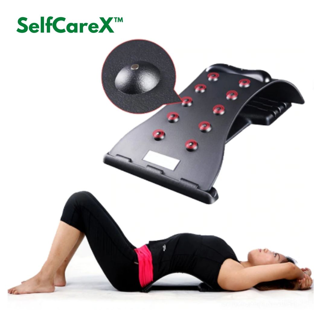 SelfCareX™ Posture Corrector Back Massager Stretcher Pain Relief Lumbar Support