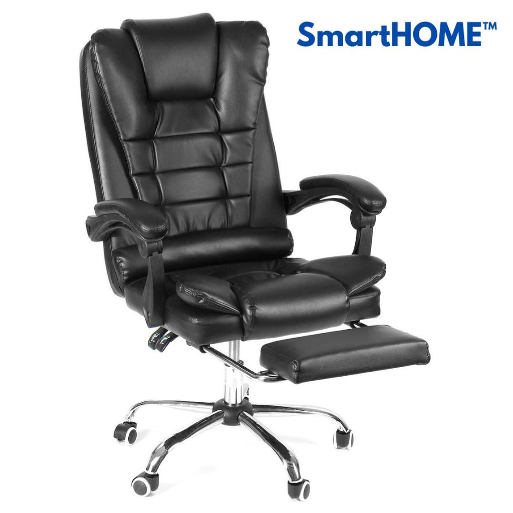 SmartHOME™ Office Chair with Footrest Ergonomic Design Reclining PU Material