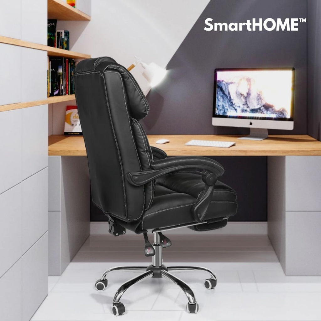 Smarthome Office Chair Footrest Ergonomic Design Reclining Pu Material Love It Store