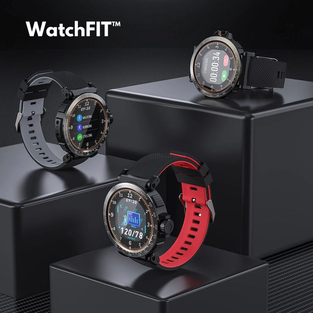 WatchFIT™ Smart Watch Blood Pressure Heart Rate Oxygen Monitor
