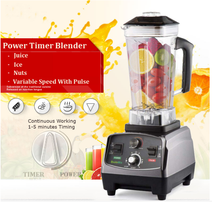 WantJoin™ Commercial Blender Juicer Food Processor 2200W High-Performance Heavy Duty