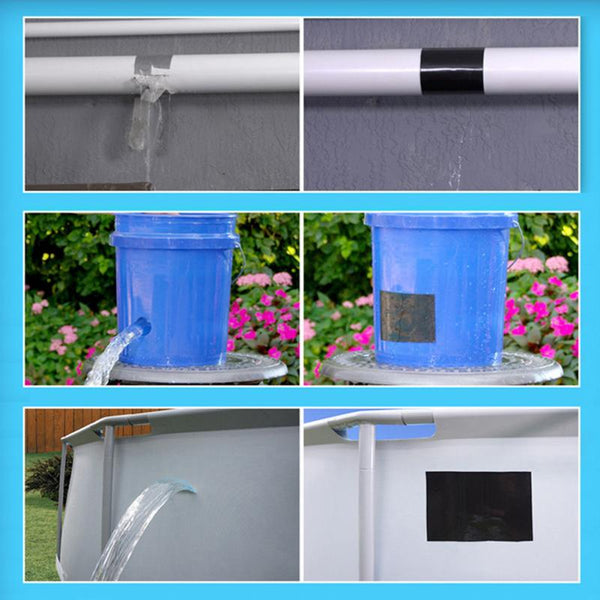 Quick Repairing Stop Leak Tape Super Strong Flex Leakage Repair Waterproof Tape for Garden Hose Pipe Water Tap Bonding