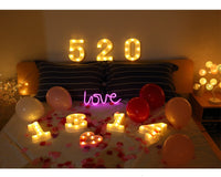 Alphabet Letter LED Lights Marquee Sign Number Lamp Decoration Night Light For Party Bedroom Wedding Birthday Christmas Decor