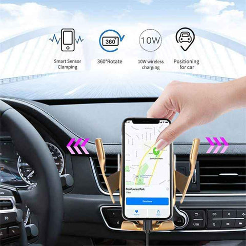Image of Smart Automatic Car Wireless Charger - Bee Bee Shopping USA