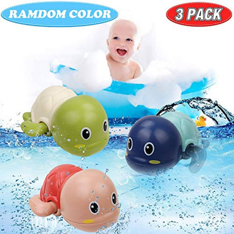 Baby Bath Turtle Toy, Wind-Up Floating Swimming Turtles 3pcs - Bee Bee Shopping USA