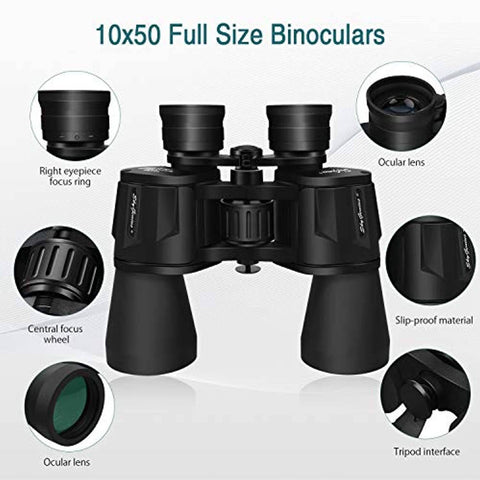 SkyGenius 10 x 50 Binoculars - Bee Bee Shopping USA