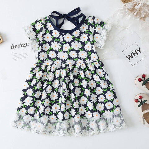 Image of Daisy Floral Summer Dress - Bee Bee Shopping USA