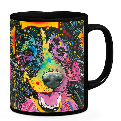 Image of Dean Russo Smiling Collie Cool Gift - Coffee Mug